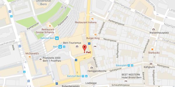 WELLcome Day PwC Bern Ort Google Maps