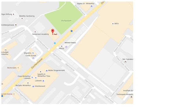 WELLcome Day PwC Winterthur Ort Google Maps