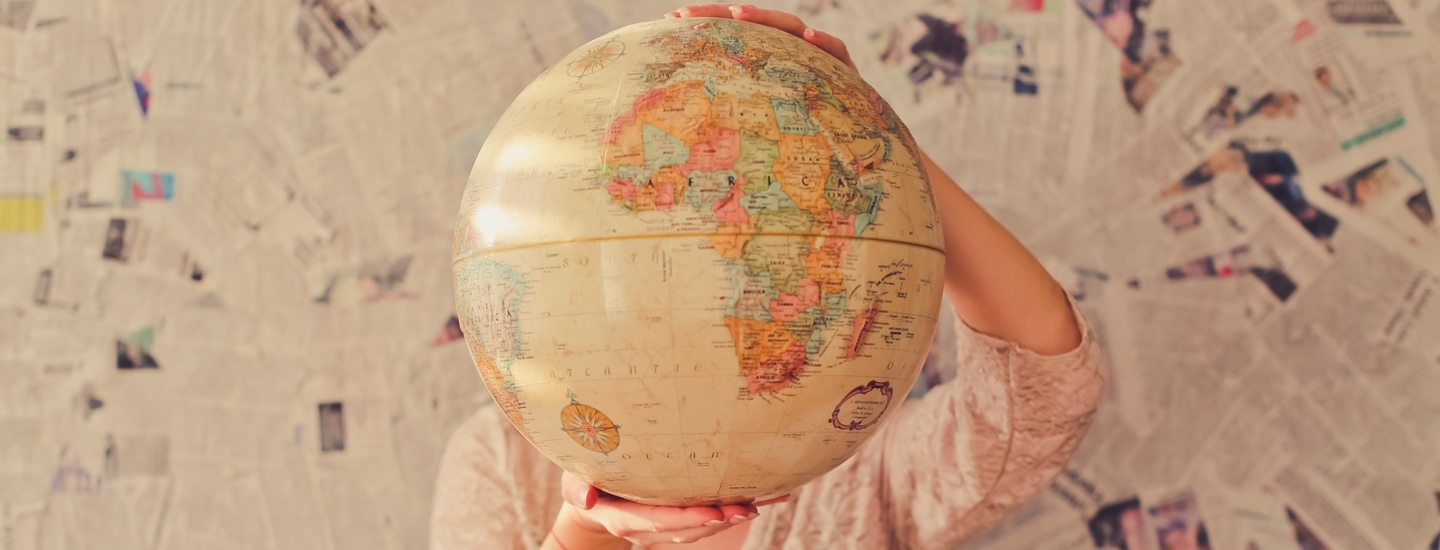 Globe map world
